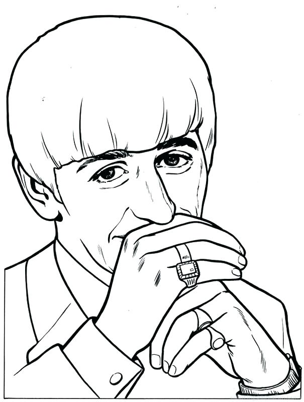 605x800 Beatles Coloring Book Pages