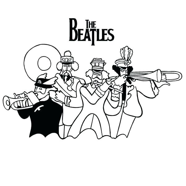 600x600 Beatles Yellow Submarine Coloring Pages Beatles Coloring Book Plus