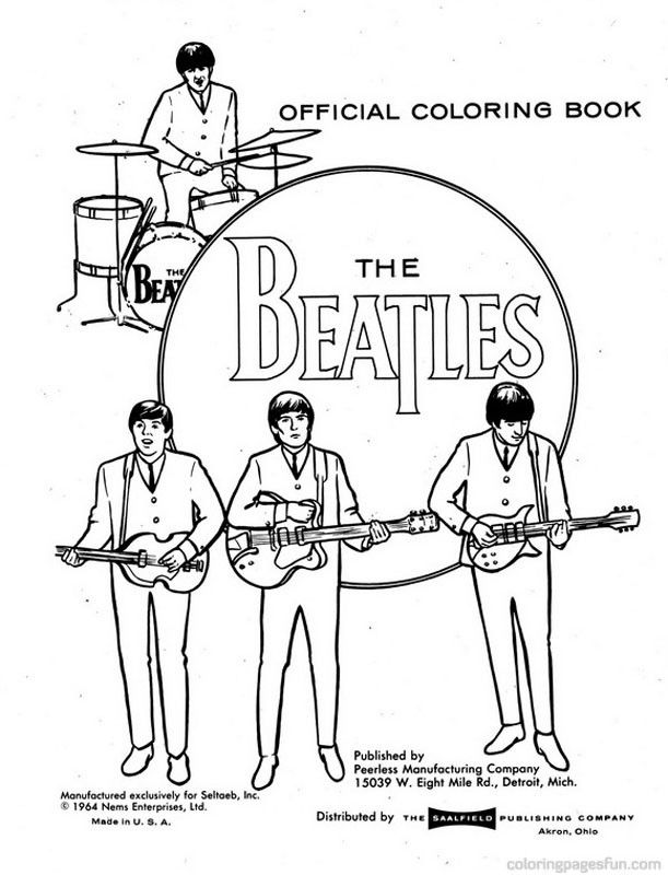 611x800 The Beatles Coloring Printable