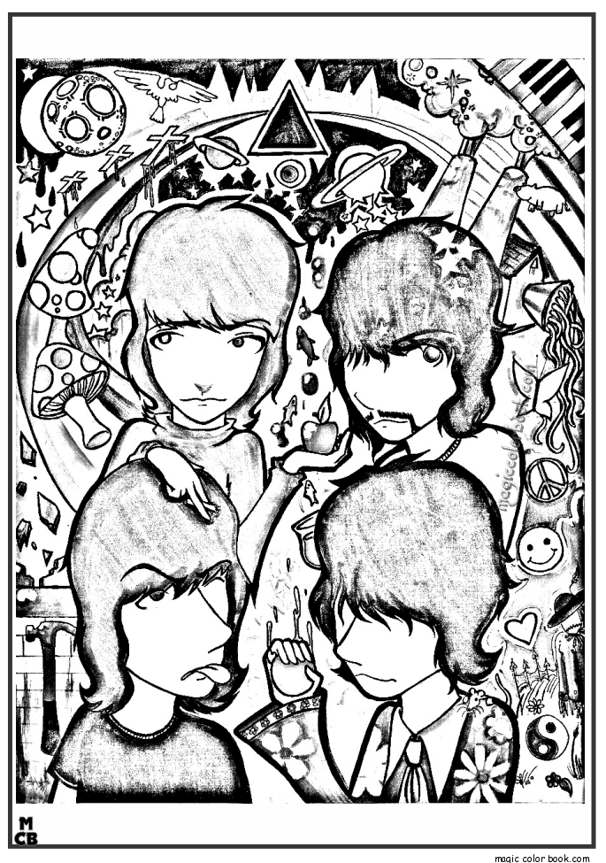 685x975 Beatles Adults Patterns Coloring Pages Pink Floyd