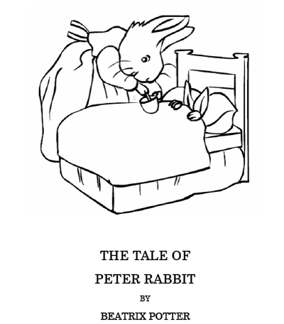 400x456 Easter Kids Craft Ideas Peter Rabbit Coloring Pages