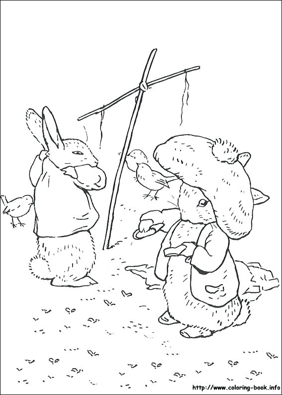 567x794 Peter Rabbit Coloring Pages Peter Rabbit Blackberries Printable