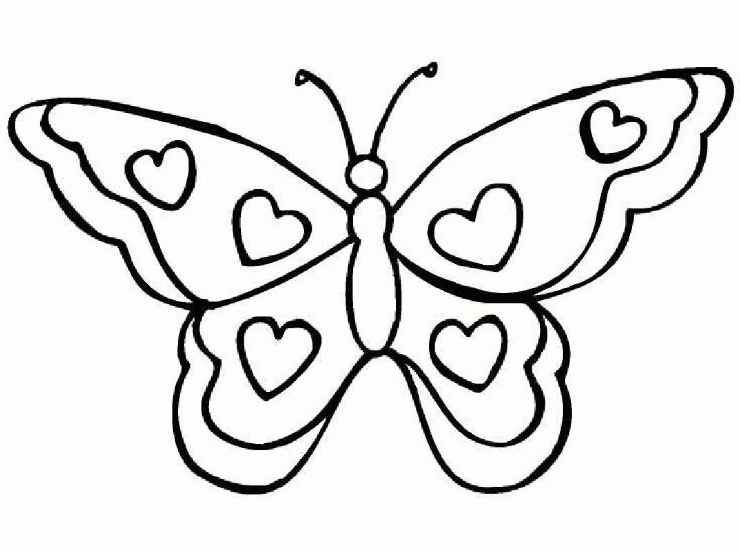 1069x800 Butterflies Coloring Pages Beautiful Butterfly Coloring Pages
