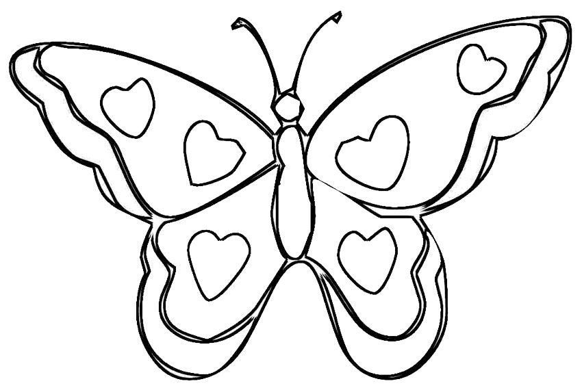 850x567 Butterfly Coloring Pages Beautiful Butterfly Coloring Page