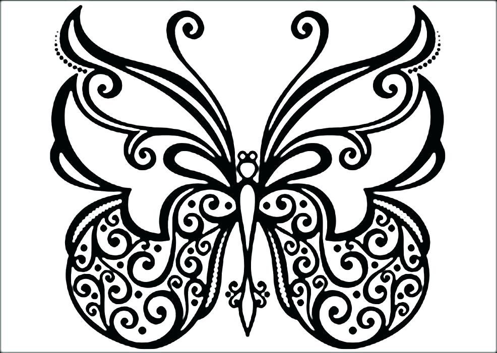 986x701 Butterfly Coloring Pages Butterflies Coloring Pages Photo