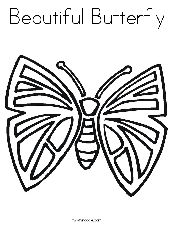 685x886 Beautiful Butterfly Coloring Page