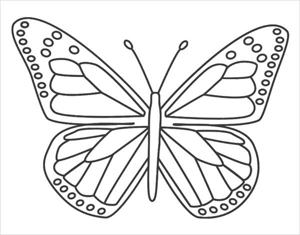 600x470 Pretty Butterfly Coloring Pages