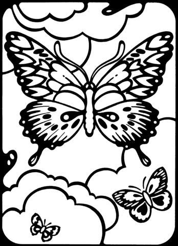 348x480 Printable Butterfly Coloring Pages Printable Coloring Pages
