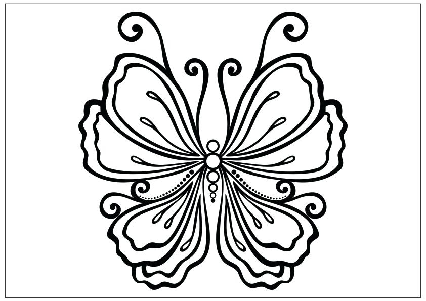 842x595 Beautiful Butterfly Coloring Pages Beautiful Butterfly Drawing