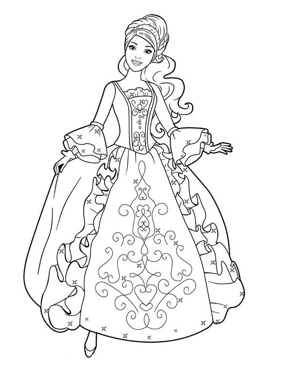 600x776 Beautiful Dress Coloring Pages Aramina In Beautiful Ball Dress