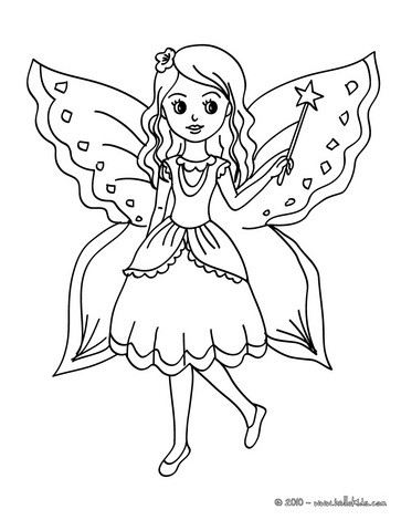363x470 Fairies Coloring Pages