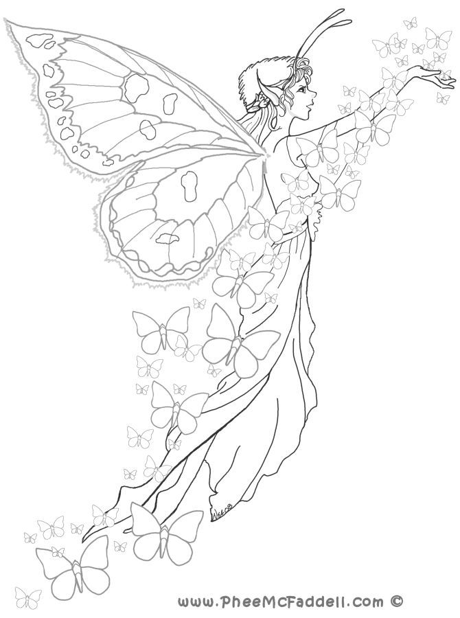 670x900 Drawings Fairy, Adult Coloring