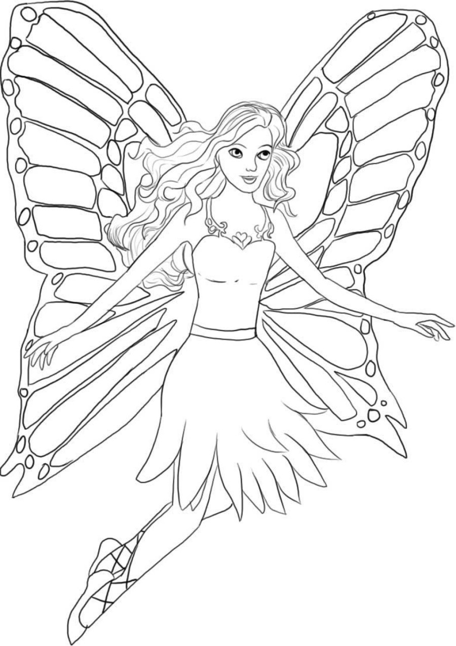 900x1276 Beautiful Fairy Princess Coloring Pages Printable Fairy Coloring