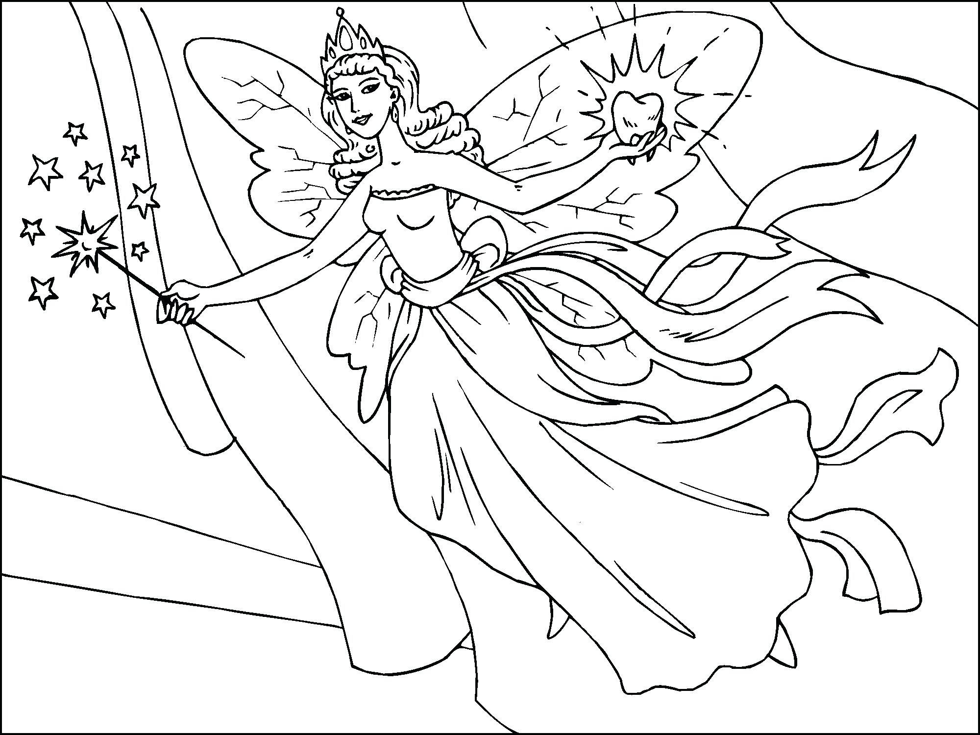 2000x1500 Coloring Pages Fairies Coloring Pages Beautiful Fairy Fawn