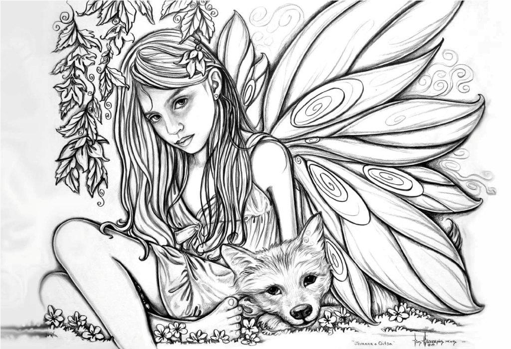 1024x701 Beautiful Fairy Coloring Pages