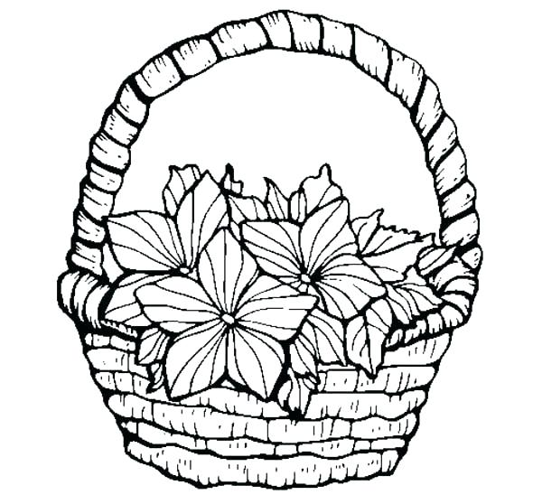 600x558 Beautiful Flower Coloring Pages Printable Flower Coloring Pages
