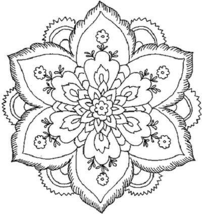 400x424 Beautiful Coloring Pictures Beautiful Coloring Pages For Adults