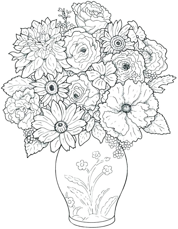 736x949 Coloring Book Pages Flowers Beautiful Flowers Coloring Pages Free
