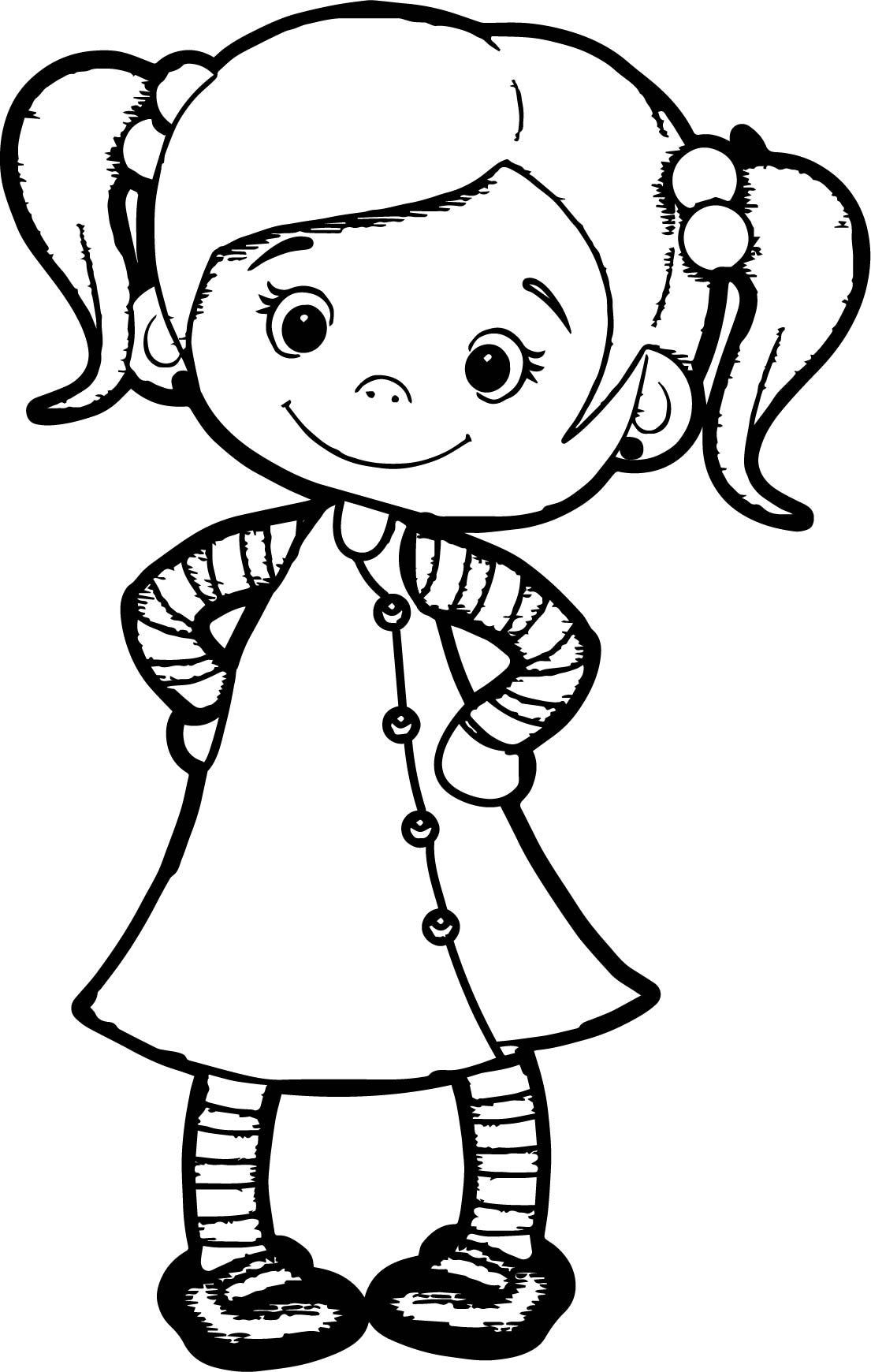 1105x1740 Beautiful Girls Coloring Pages Throughout Cute Girl