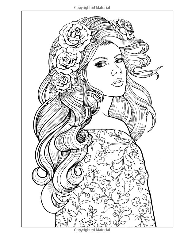 600x776 Beautiful Girl Coloring Pages Good Coloring Pages For Women