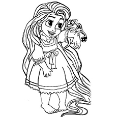 230x230 Beautiful Rapunzel Coloring Pages For Your Little Girl