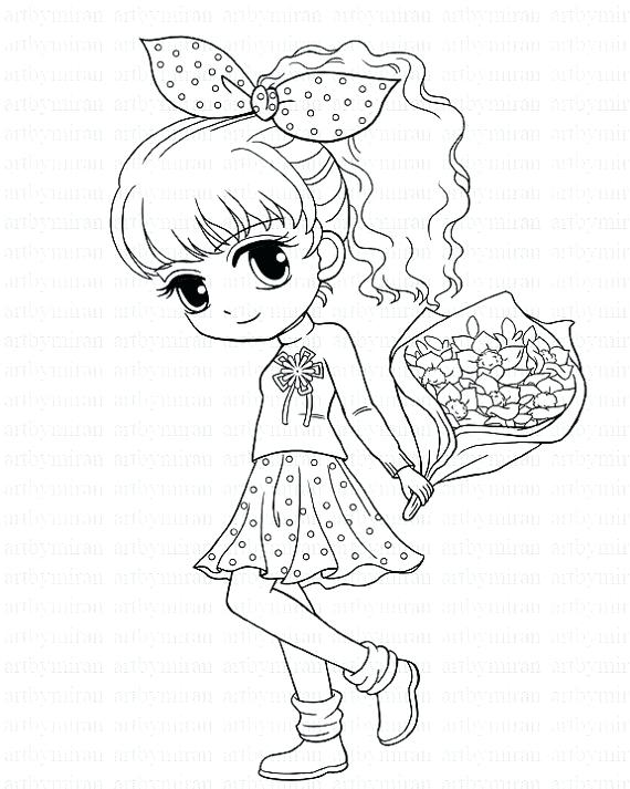 570x713 Pretty Girl Coloring Pages Beautiful Girl Coloring Pages Stamp