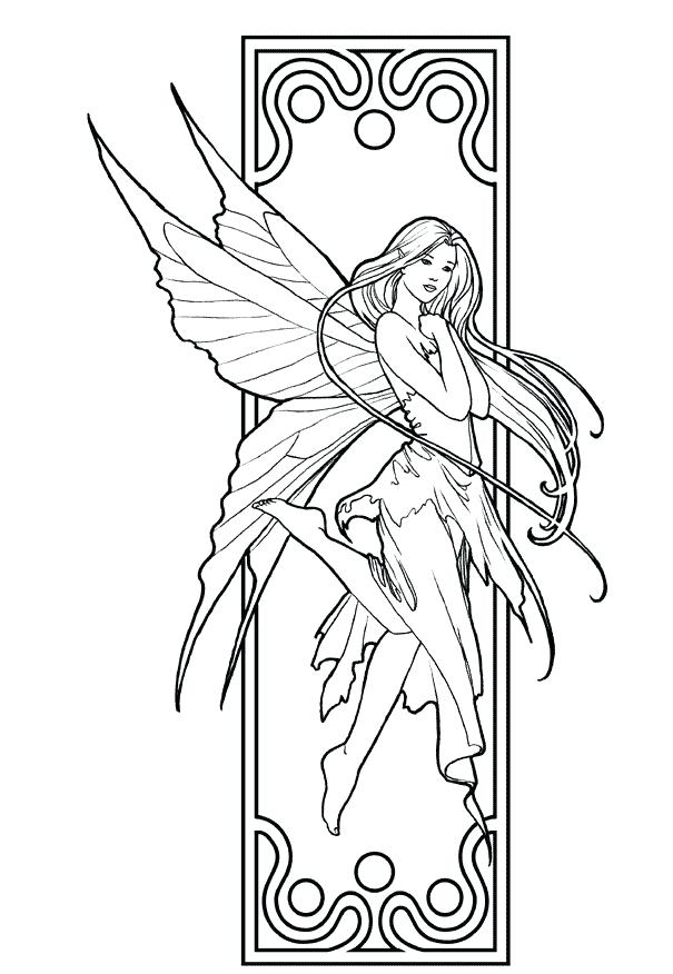 605x876 Pretty Girl Coloring Pages Beautiful Girl Fairy Coloring Pages