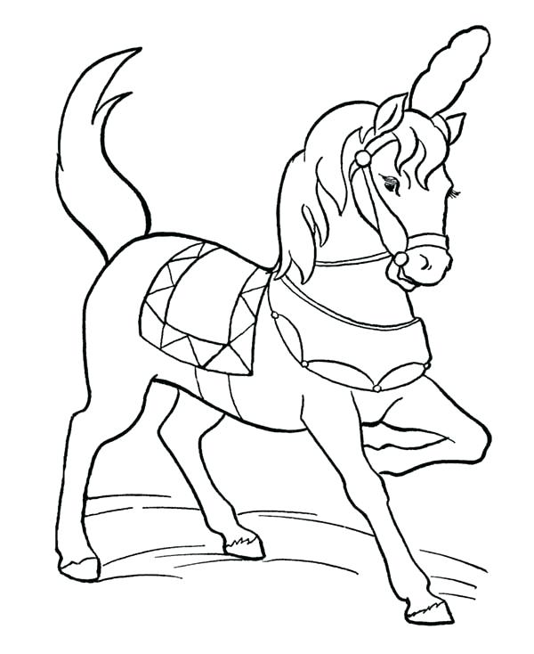 600x734 Circus Coloring Page Beautiful Circus Horse Coloring Page Sun