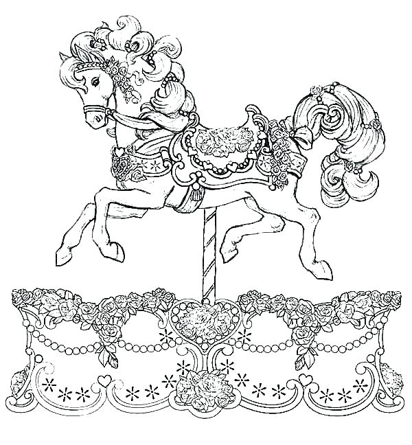 600x648 Horse Coloring Pages
