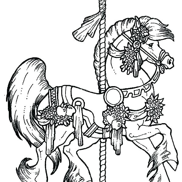 600x600 Beautiful Horse Coloring Pages Horse With Beautiful Mane In Horses