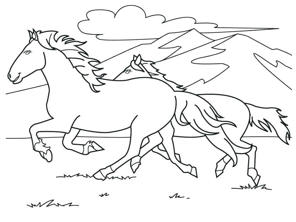 945x709 Beautiful Horse Coloring Pages Printable Horse Coloring Pages