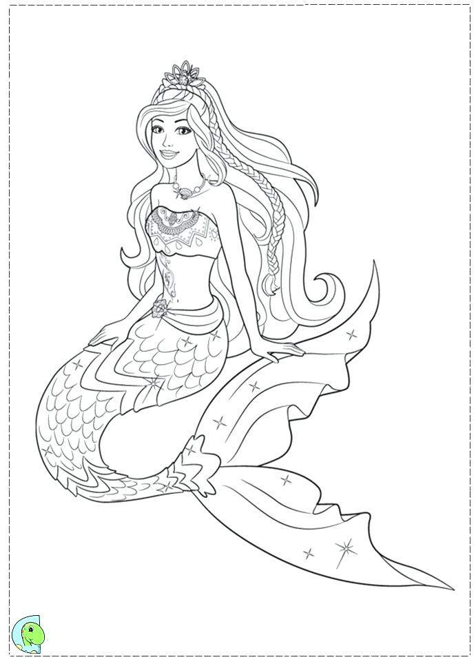 691x960 Beautiful Mermaid Colouring Pages Barbie Coloring Download