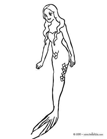 364x470 Beautiful Mermaid Coloring Pages