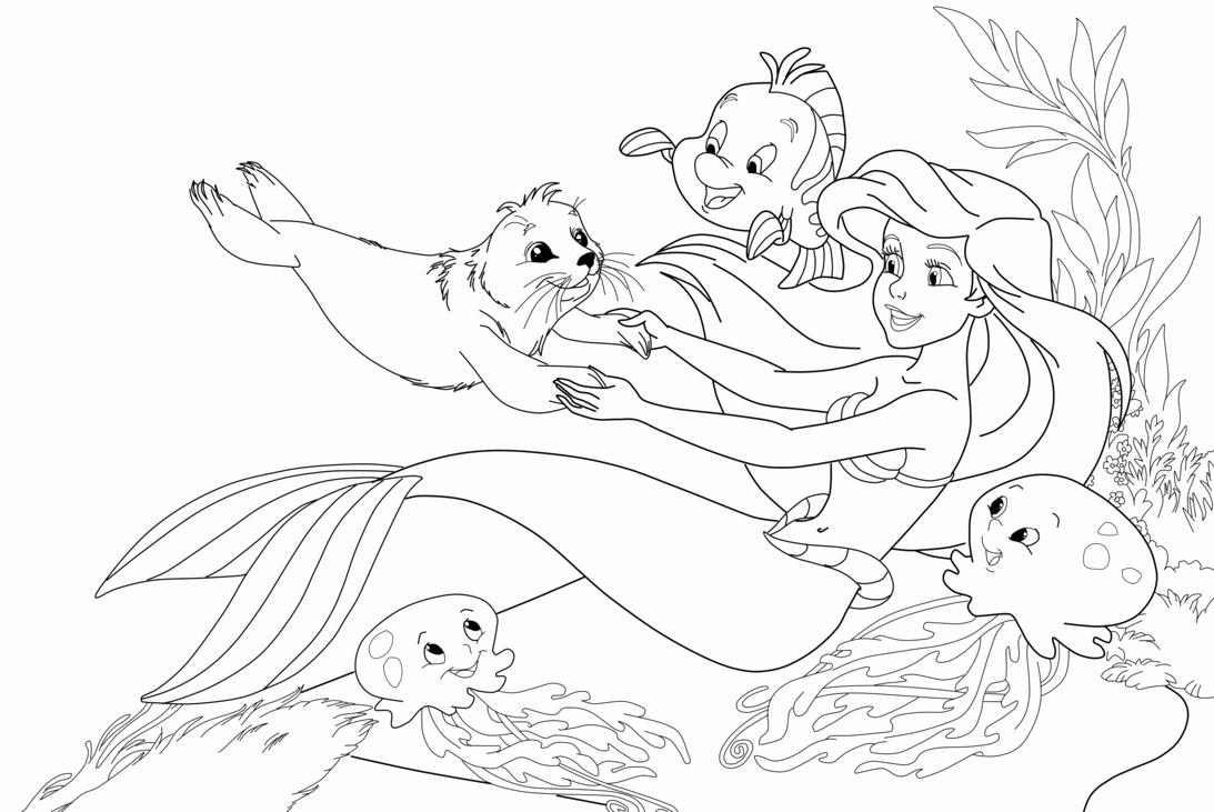 1093x731 Fresh Cartoon Mermaid Coloring Pages Gallery Printable Coloring