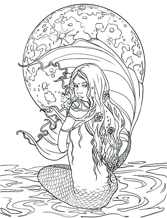 564x736 Mermaid Coloring Pages Beautiful Mermaid Colouring Pages Printable