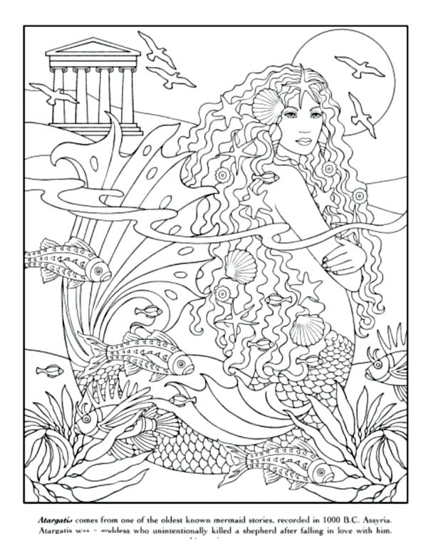 615x779 Mermaid Coloring Pages For Adults Coloring Pages For Teenagers