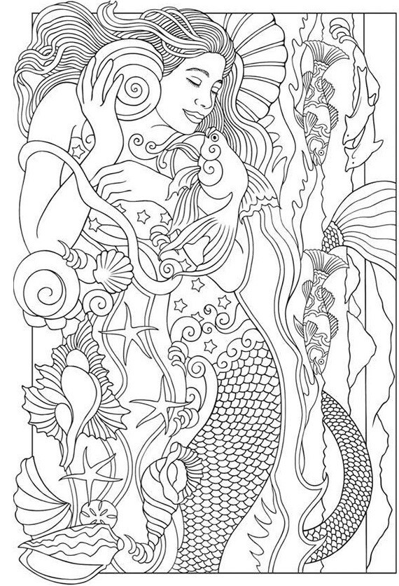 570x836 Printable Mermaid Pictures Best Of Beautiful Mermaid Coloring Page