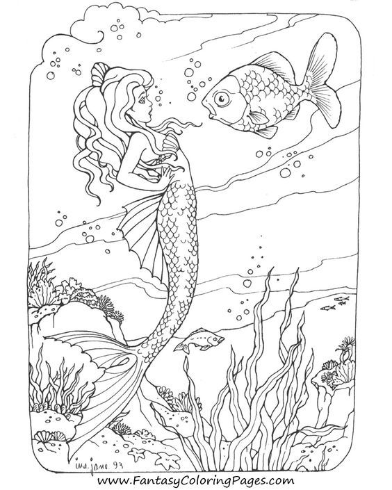 564x705 Beautiful Mermaid Coloring Pages Another Mermaid Coloring Page