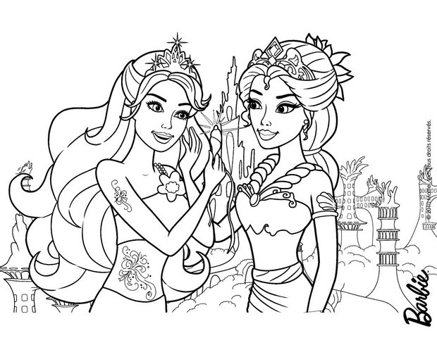 620x480 Barbie Mermaid Coloring Pages Beautiful Beautiful Mermaids Mom