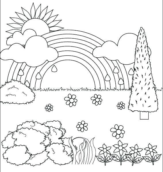 567x600 Nature Coloring Pages Nature Coloring Beautiful Nature Coloring