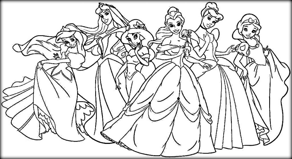 1024x558 Disney Princess Coloring Pages To Print Free