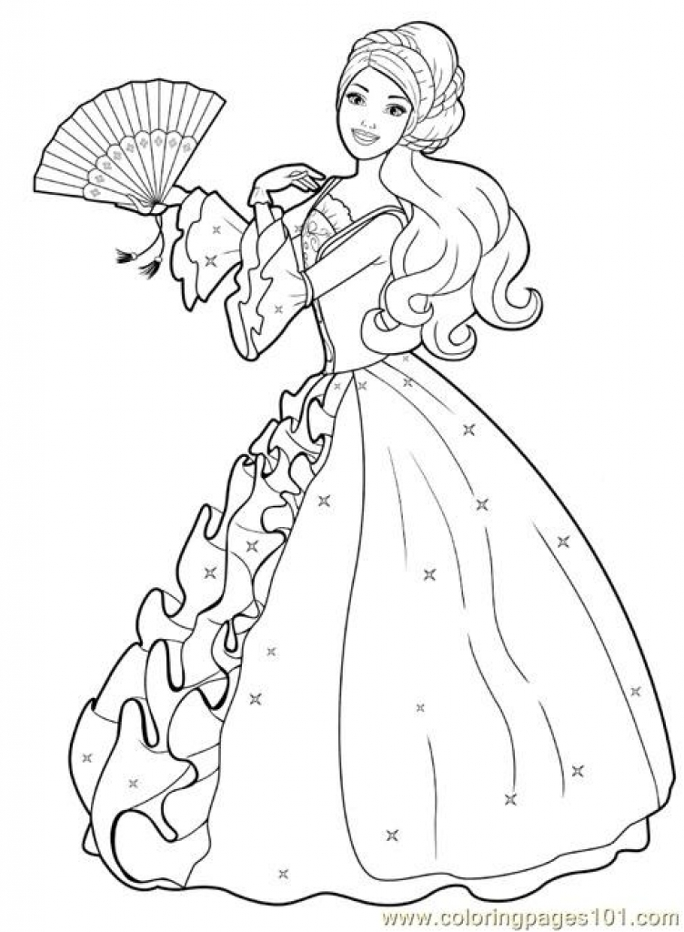752x1024 Princess Coloring Pages Free Printable