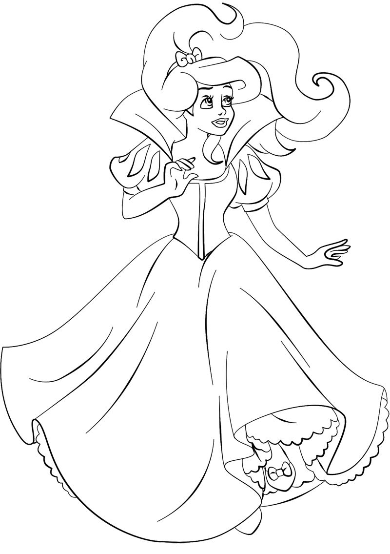 800x1135 Beautiful Princess Ariel Coloring Page Coloring Pages