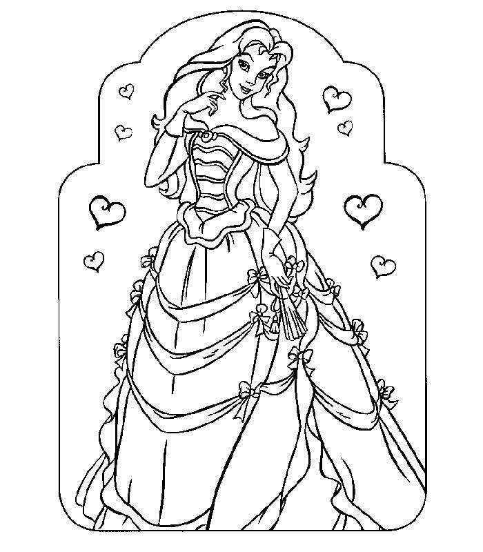 700x800 Beautiful Princess Coloring Pages Beautiful Coloring