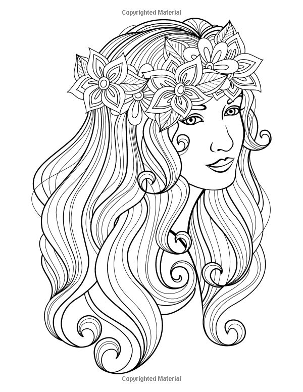 600x776 Best Beautiful Women Coloring Pages For Adults Images