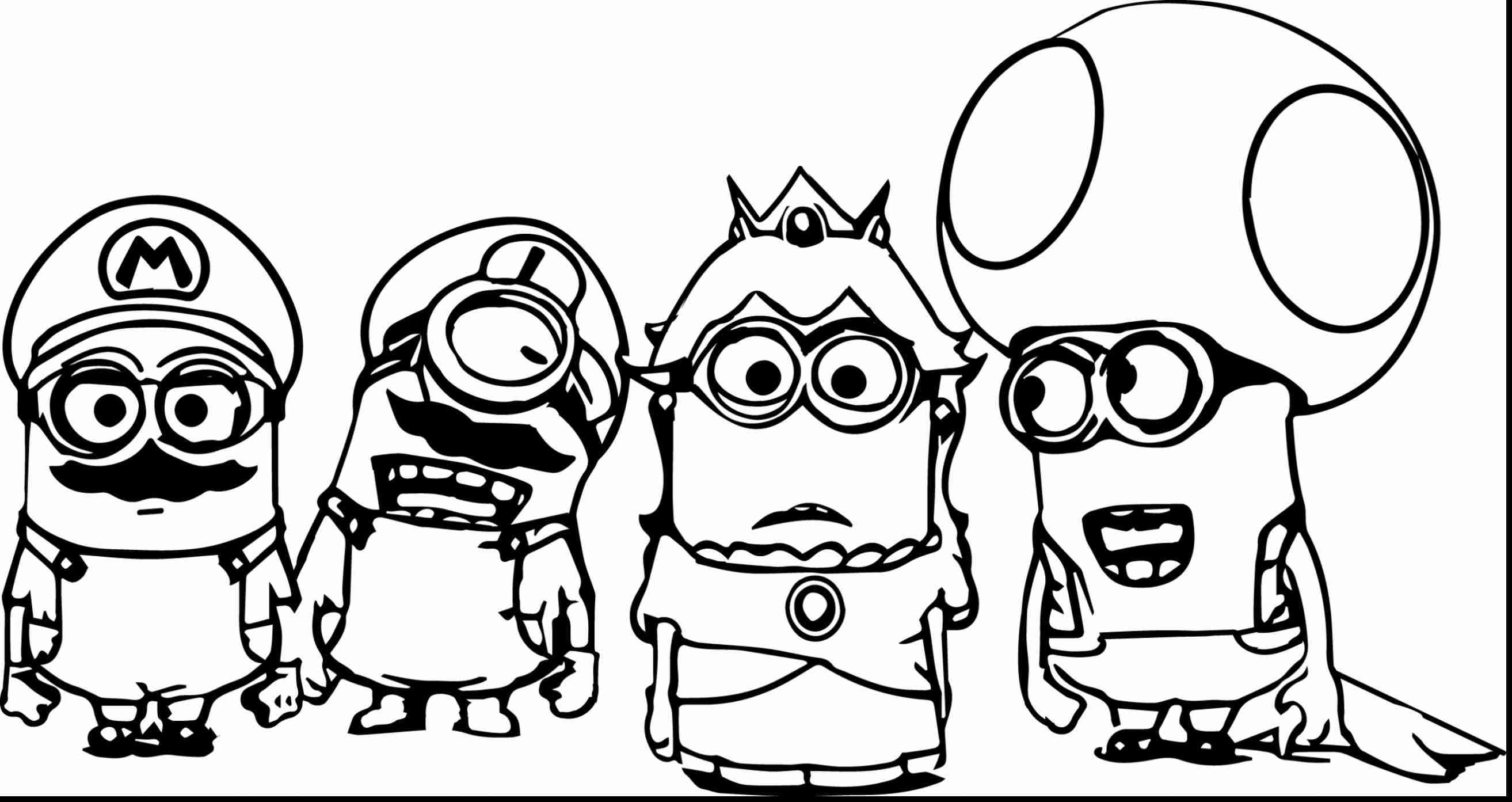 2627x1393 Magnificent Minion Printable Coloring Pages With Free Beautiful