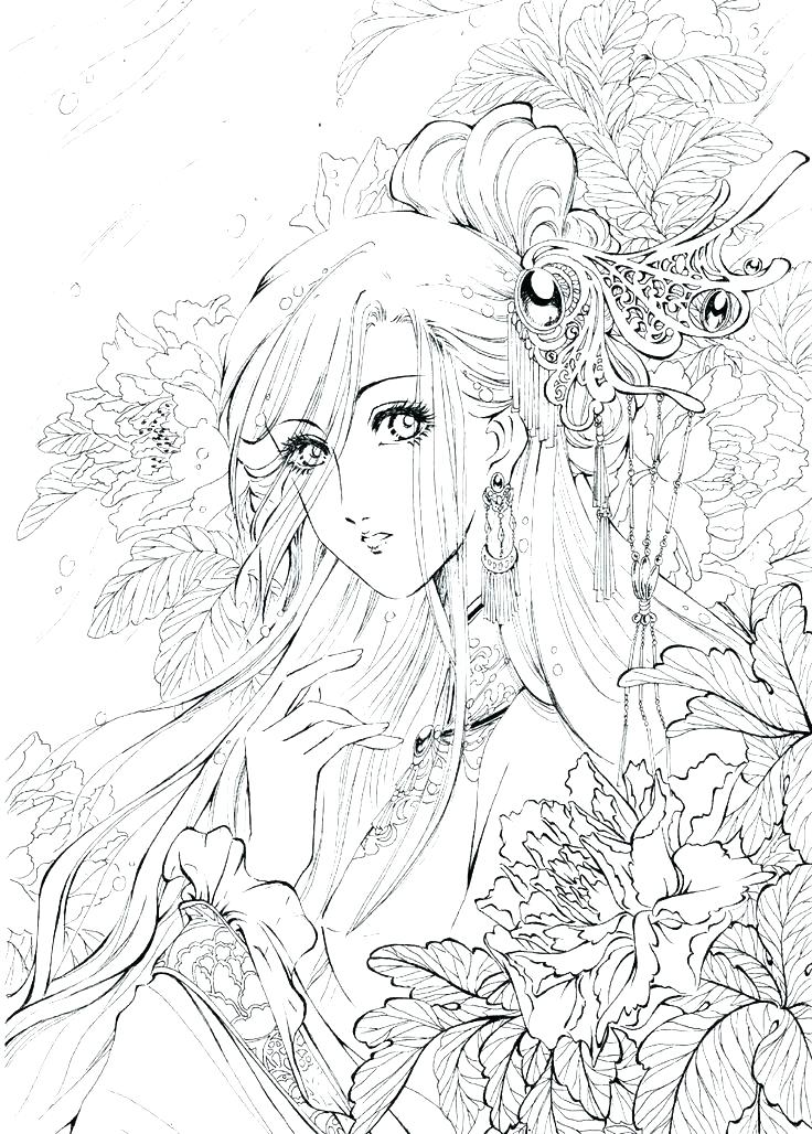 736x1028 Creepy Coloring Pages Anime Coloring Pages Female Coloring Pages