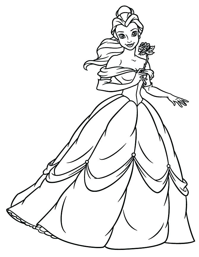 670x867 Belle Coloring Pages Beauty And The Beast Coloring Plus Printable