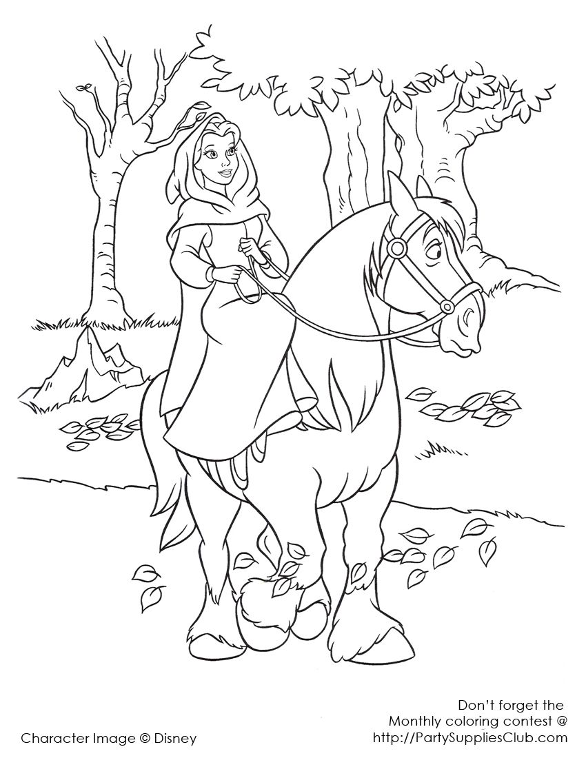 850x1100 Disney Beauty And The Beast Coloring Page Beauty And The Beast