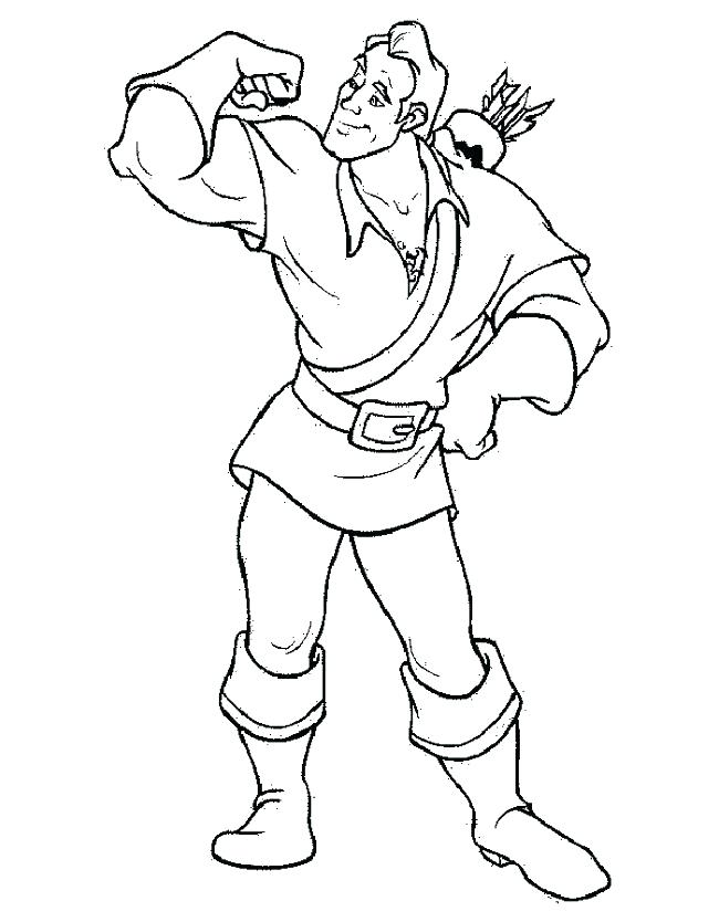 650x834 Beauty And The Beast Characters Coloring Pages